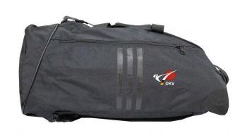 bf6b69b534c46 adidas Sporttasche - Sportrucksack schwarz weiss mit DKV Logo