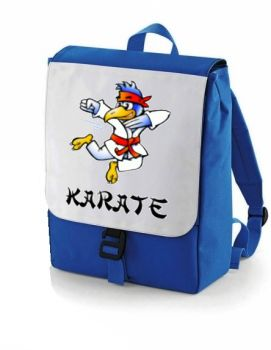 kids backpack with karate motive