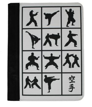 desk pad with karate motifs