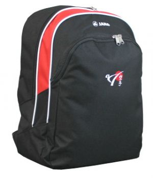backpack Attack with the logo of DKV