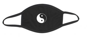 Black cotton mouth and nose mask with ying yang