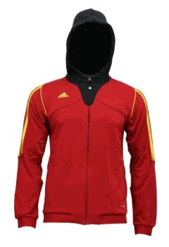 adidas sweater in red black yellow
