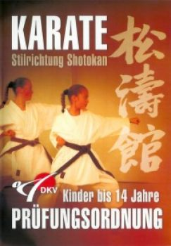 DVD childs regulations for the conduct of an examination Shotokan for children til 14 years