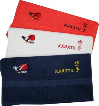 sauna towel embroidered with the logo of DKV - Kopie