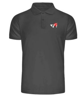 polo shirt for men with the DKV logo and karate character