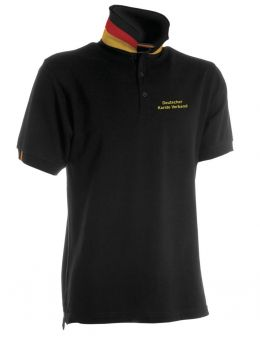 Poloshirt Germany mit Druck DKV + Germany