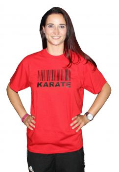 t shirt Barcode Karate