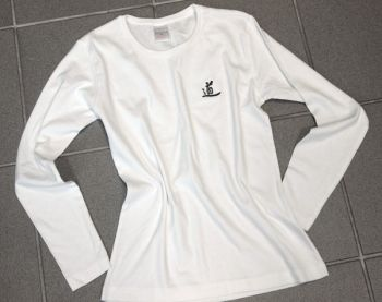 long sleeved shirt in white