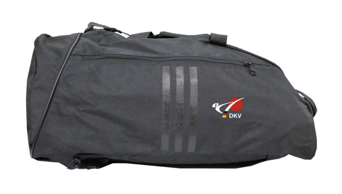 f26124329336 adidas sports bag sports backpack Big Zip with the logo of DKV - Budo Life  - Fan Shop des Deutschen Karateverbandes