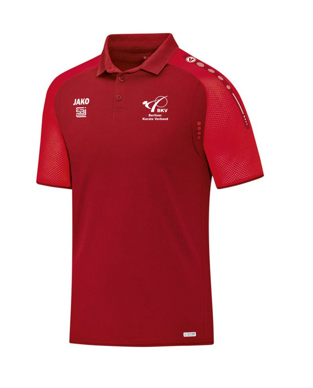 official photos af290 33a1b Polo Shirt rot mit Druck Berliner Karate Verband