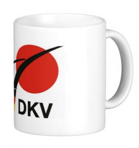 cup with DKV motif